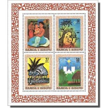 Weihnachten – Briefmarken-Block postfrisch, Katalog-Nr. 442-445, Block 24, Samoa