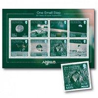 50 Jahre Mondlandung: Apollo 11, One Small Step - Block postfrisch, Insel Man
