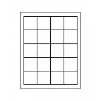 LINDNER Münzenbox, quadratische Vertiefungen 47mm, LI 2120, Carbo