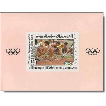 Olympische Sommerspiele, Los Angeles - 5 Luxusblocks postfrisch, Katalog-Nr. 821-825, Mauretanien