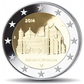 2 Euro Münze 2014, Michaeliskirche / Niedersachsen, Deutschland, 1 Prägezeichen