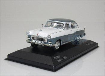 Modellauto:GAZ Wolga M 21 von 1959, grau-weiß(WhiteBox, 1:43)