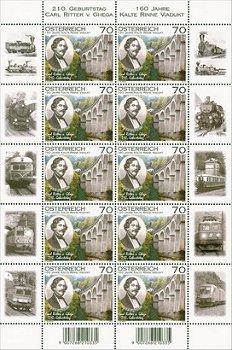 Semmeringbahn - Briefmarken-Kleinbogen, Österreich