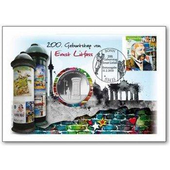 200. Geburtstag von Ernst Litfass - Numisbrief, Deutschland