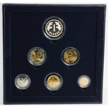 Kursmünzensatz 2001 in Polierter Platte, Finnland