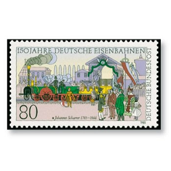 150 years of the German Railway - catalog no. 1264, mint never hinged, federal government