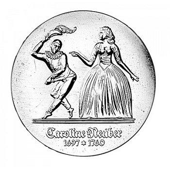 5-Mark-Münze 1985, 225. Todestag Caroline Neuber, DDR