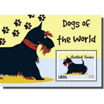 Scottish Terrier - Briefmarken-Block, Liberia