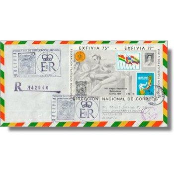 25 Jahre Krönung Königin Elisabeth, Briefmarkenausstellung PHILASERDICA - Block 77 auf echtgelaufene