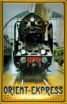 Blechschild: Orient-Express (20 x 30 cm)
