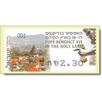 Papst Benedikt XVI. besucht das Heilige Land - Automaten-Briefmarke selbstklebend postfrisch, Katalo
