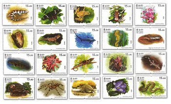 Animal and Plant Species - 20 Postage Stamps Mint, Sri Lanka