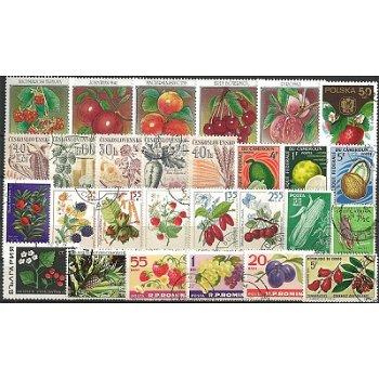 Früchte - 100 verschiedene Briefmarken