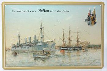 Blechschild:Gefion im Kieler Hafen(30 x 20 cm)