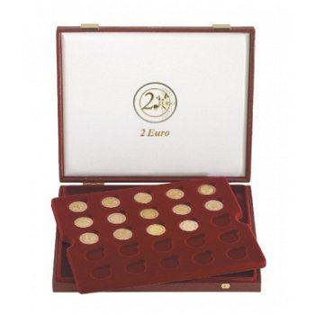 Lindner-Luxuskassette für 50 Stück 2-Euro-Münzen, LI 2453