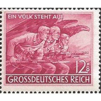 Volkssturm - Briefmarke, Katalog-Nr. 908, postfrisch, Deutsches Reich