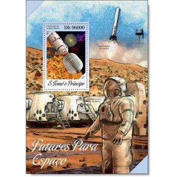 Weltraum - Briefmarken-Block postfrisch, St. Thomas