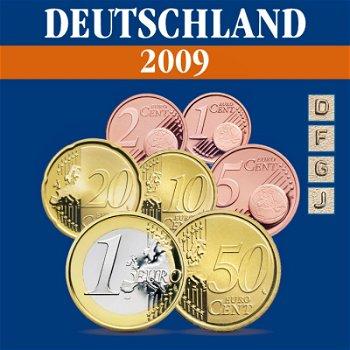 Deutschland - Kursmünzensatz 2009, Prägezeichen D, F, J, G