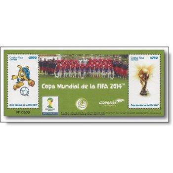 Fußball-Weltmeisterschaft - Briefmarken-Block postfrisch, Costa Rica
