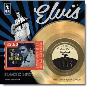 Elvis Presley: Heartbreak Hotel - Briefmarken-Block postfrisch, Micronesien