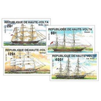 Schiffe – Briefmarken postfrisch, ungezähnt, Katalog-Nr. 964-967, Obervolta