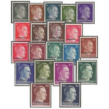 Freimarken - 20 Briefmarken postfrisch, Katalog-Nr. 1-20, Deutsche Besetzung Ostland