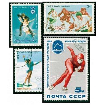 Eissport - Briefmarkenpaket, 100 Briefmarken