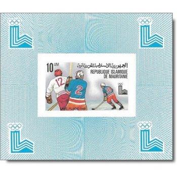 Olympische Winterspiele 1980 - 6 Luxusblocks postfrisch, Katalog-Nr. 660-665, Mauretanien