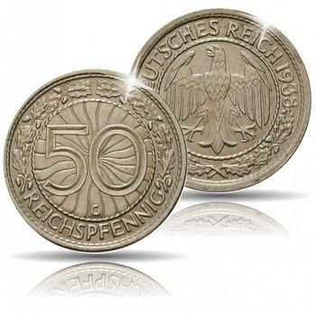 50 Reichspfennig 1927-1938, Jäger-Nr.324, Weimarer Republik