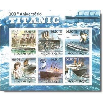 100. Jahrestag der Titanic - Briefmarken-Block postfrisch, Mocambique