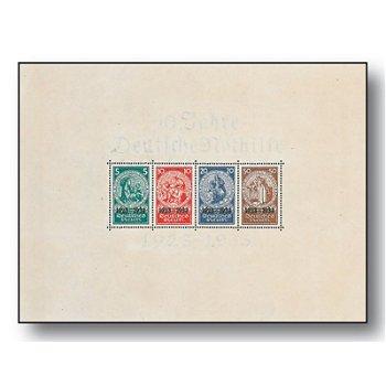 Nothilfe - Block 2 postfrisch, Katalog-Nr. 508-11, Deutsches Reich