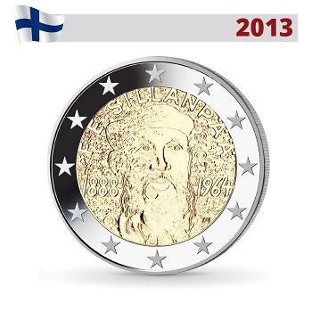 125. Geburtstag von Frans Eemil Sillanpää, 2 Euro Münze 2013, Finnland