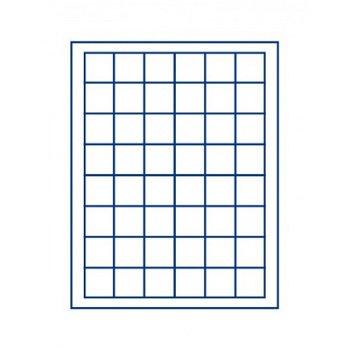 LINDNER Münzenbox, quadratische Vertiefungen 30mm, LI 2148M, Marine