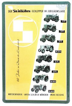 Blechschild:Schlüter - 60 Jahre -(20 x 30 cm)