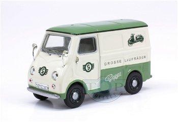 "Modellauto:Goggomobil TL 250 ""Goggo-die Lösung"", grün-creme(Premium ClassiXXs, 1:43)"