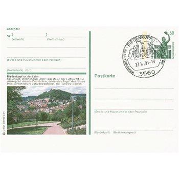 3560 Biedenkopf - picture postcard with the stamp & quot; Zeche Zöllern II Dortmund & quot;
