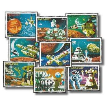 Weltraumprojekte der Zukunft - 9 Briefmarken postfrisch, Katalog-Nr. 3051-3059, Paraguay