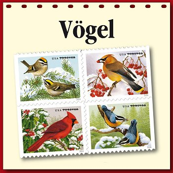 Vögel auf Briefmarken - Motivabonnement