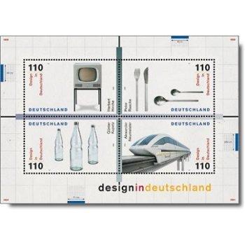 Design in Deutschland 1999, Block 50 postfrisch, Katalog-Nr. 2068-71, Bundesrepublik