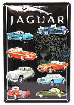 Blechschild:Jaguar Modell-Palette(20 x 30 cm)