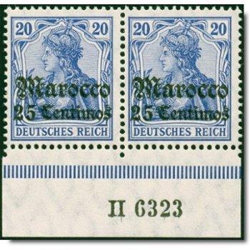 Deutsche Post Morocco - Catalog No. 37a HAN A H 6323, horizontal pair, mint never hinged