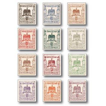 Finsterwalde - the city of singers - 12 stamps mint never hinged, catalog no. 1-12, Finsterwalde