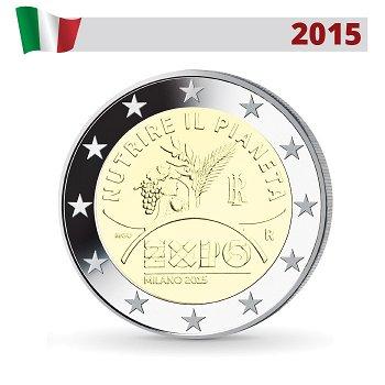 Weltaustellung EXPO Mailand, 2 Euro Münze 2015, Italien
