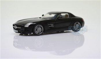 Modellauto:Mercedes SLS AMG - Flügeltürer -, schwarz(Schuco, 1:43)
