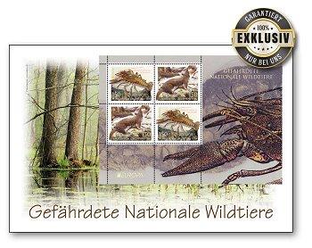 Europa 2021: Gefährdete nationale Wildtiere - Ersttagsbrief, Liechtenstein