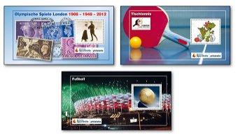 Sportereignisse 2012 - 3 Farbsonderdrucke postfrisch, Deutschland