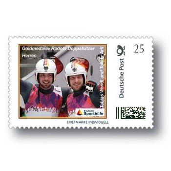 Winterspiele 2014 Rodeln, Doppelsitzer - Marke Individuell postfrisch, Deutschland