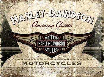 Blechschild:Harley-Davidson- American Classic -(Nostalgic Art, 40 x 30 cm)