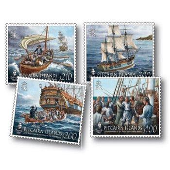 Meuterei auf der Bounty - 4 Briefmarken postfrisch, Pitcairn