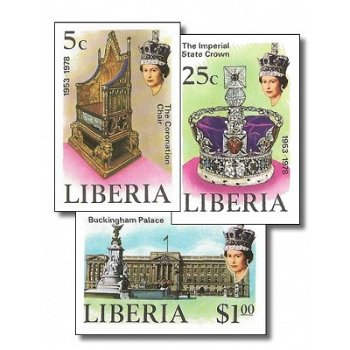 25. Jahrestag der Krönung von Königin Elisabeth II. – Briefmarken postfrisch, ungezähnt, Katalog-Nr.